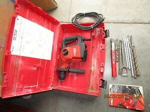Hilti Te 16 c Hammer Drill chipping Preowned 115v ac Lot Bits Case 1017