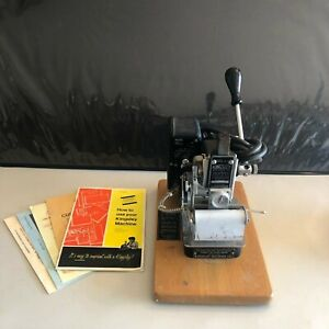 Kingsley M 75 Hot Foil Stamping Embossing Machine Pre owned Not Tested