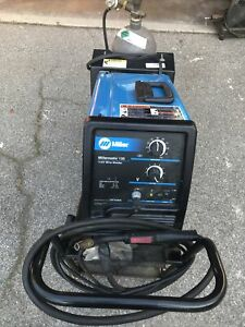 Miller Millermatic 135 115v Wire Welder W Cart Working 2 Nos Gases Incl