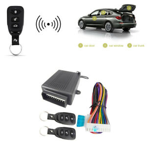 Keyless Entry System Car Remote Central Kit Door Lock Window Rises Trunk Release