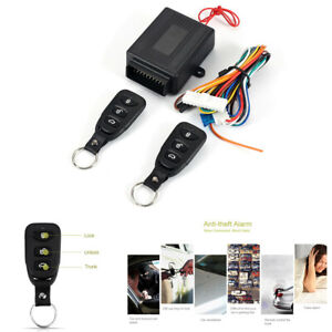 Car Remote Central Door Locking Keyless Entry System Security Kit Window Trunk