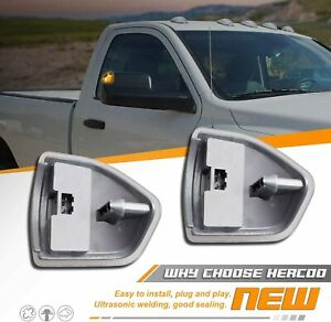 Amber Led Side Mirror Turn Signal Lights For Dodge Ram 3500 1500 2500 Clear Lens