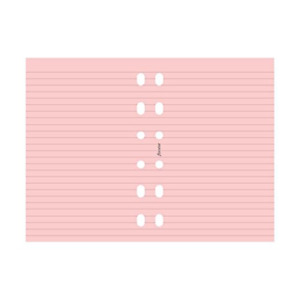 Filofax Ruled Notepaper Refill For Personal Organizers Pink 20 Sheets B213007