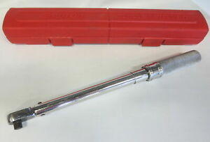 Snap On 3 8 Drive Click Type Fixed Head Torque Wrench 20 100 Ft lb Qd2r100