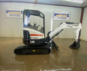 2015 Bobcat E26 Orops Compact Track Excavator With 2 Speed Hst