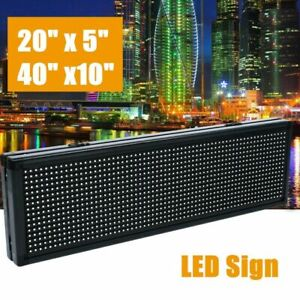 Brightness 6000cd m Full Color Led Sign Programmable Scrolling Message Display