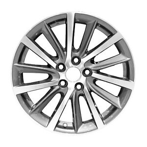 18x7 5 14 Spoke Refurb Toyota Alloy Wheel Machined And Medium Charcoal 560 75214