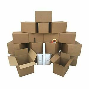 1 Room Basic Moving Kit 18 Boxes 24 Feet Bubble 3 Lbs Paper And 110 Yards Tape