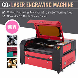 Omtech 60w 20x28in Co2 Laser Engraver Engraving Cutting Machine Ruida Panel