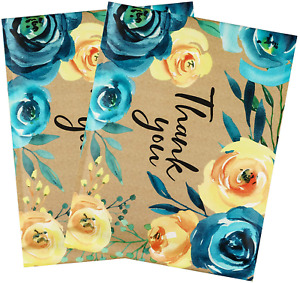 Biobrown Bubble Mailers Flower Print Thank You Design For Shipping 10x13inch 25p