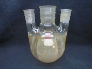Ace Glass 3 neck 1000ml Morton Indented Round Flask 45 50 Middle 29 42 Side 6958