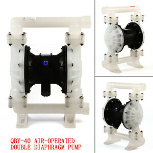 Air operated Double Diaphragm Air Poly Pump Chemical Industrial 1 5 inlet outlet