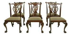 Lf51761ec Set Of 6 Hickory Chair Co Ball Claw Mahogany Dining Chairs