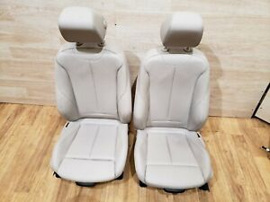 12 18 Oem Bmw F30 F36 328 335 Front Left Right Sport Seats Oyster Leather Set