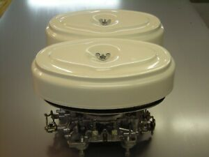 1958 To 1962 Plymouth Dodge Chrysler Dual Quads Metal Oval Air Cleaner Bases