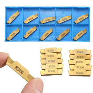 10pcs Mgmn500 m Nc3030 Cnc Lathe Blade Gold Tungsten Steel Coated Milling Lathe