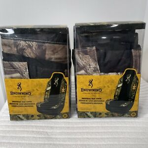 Browning Universal Mossy Oak Breakup Seat Cover Two 1 Packs