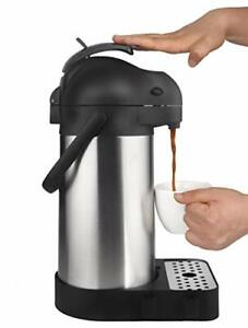 Cresimo 74 Ounce 2 2 Liter Airpot Thermal Coffee Carafe lever Action stainles