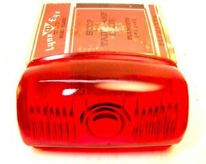 1946 1947 1948 Plymouth Deluxe Tail Light Lens New Nors Ruby Glass Nice