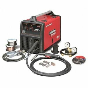 Lincoln Electric K2473 2 Mig Welder Power Mig 180c 1 208 240v Ac 30 To 180a
