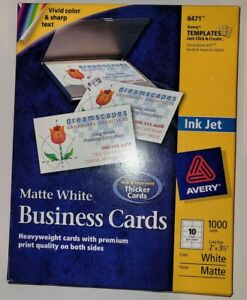 Avery Ink Jet Business Cards Quantity 710