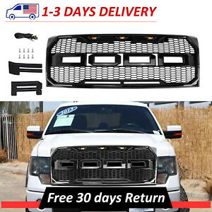 New Raptor Style Front Bumper Grille Black Fits 2009 2014 Ford F150