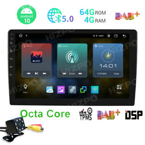 10 1 Ips Large Screen Android 10 2din Car Stereo Radio Gps Nav Wifi Obdii W Cam