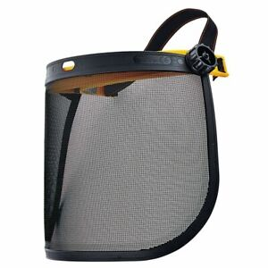 Mesh Screen Face Shield Protects From Flying Debris Working In Yard Bush Cutting