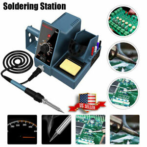 Durable Soldering Iron Station Kit With Temperature Adjustable Rapid Heating Us