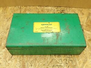 Greenlee 7306 Hydraulic Knockout Punch Driver Set W Punches Dies Good Cond