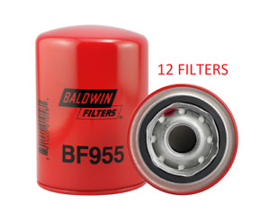 Case Of 12 Bf955 Baldwin Fuel Filter Ff5012 For Dispensing Pumps