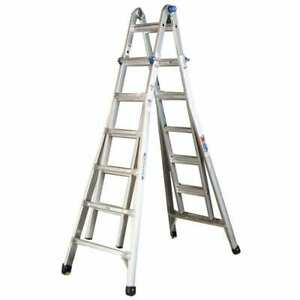 26 Ft Reach Aluminum Telescoping Multi position Ladder With 300 Lbs Load Type