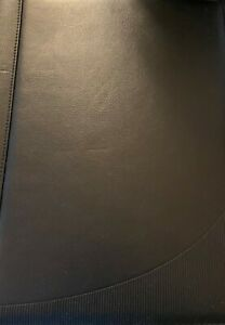 Foray Black Leather Cover For Notepad With Pockets And Calculator Look