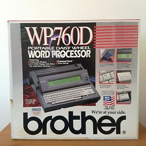 Brother Wp 760d Portable Electronic Word Processor Typewriter Cover Xtras