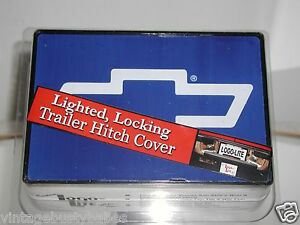 Gm Chevy Lighted Locking Trailer Hitch Cover New In Package