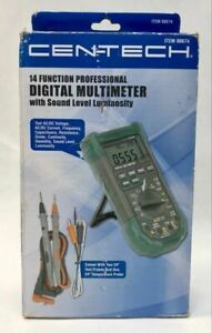 Centech 14 Function Professional Multimeter With Sound Luminosity 98674