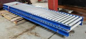 Roller Gravity Conveyor 10 Ft Long 24 Wide Excellent Condition