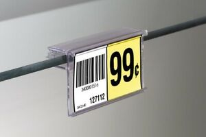 Glass Shelves Price Tag price Label Holders 25 Lot