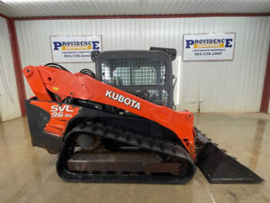 2018 Kubota Svl 95 2s Cab Skid Steer Track Loader With A c And Heat
