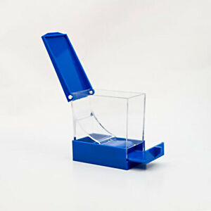 1pc Dental Cotton Roll Dispenser Holder Organizer Deluxe W Pull out Tray Blue