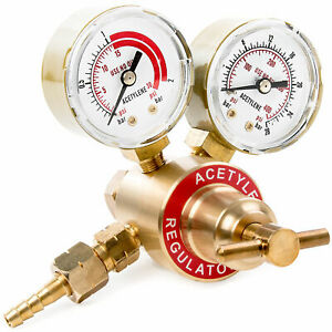 Acetylene Regulator Small Tank Gauge Cutting Torch Fits Most Victor Style Sets