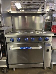 Imperial Range Ir 6 e c Imperial 6 Burner Electric Range With Convection Oven