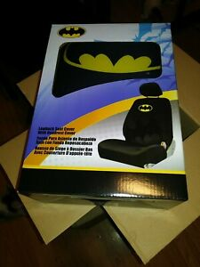 Batman Style Lowback Seat Cover With Headrest Cover