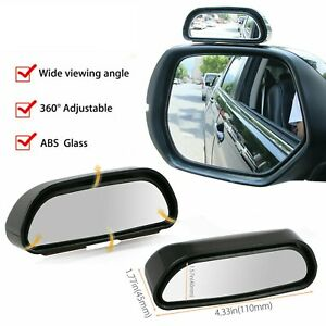 Universal Car Auto 360 Wide Angle Rear Side View Convex Blind Spot Mirror