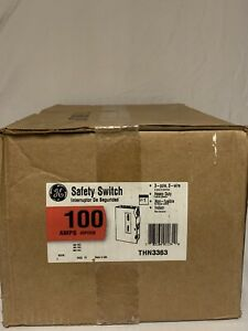 Ge Thn3363 3 Phase 100 Amp Indoor Non fusible Disconnect Switch