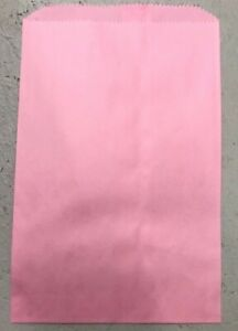 Pink Paper Flat Bags 6 1 4 X 9 7 8 For Jewelry Or Gift Bags 100 Pcs