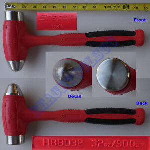 New Snap On Red Dead Blow Ball Peen Soft Grip Hammer 32oz Hbbd32 Made In Usa
