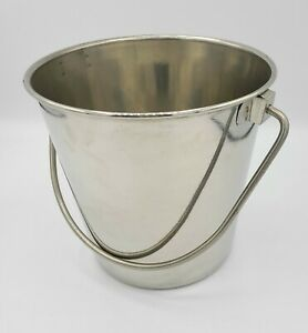 Indipets Heavy Duty Stainless Steel Pail 13 Quart Food Water Milk