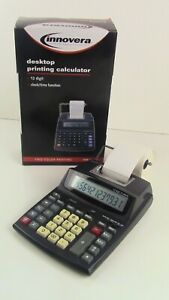 Innovera Ivr 16015 Desktop Two Color Printing Calculator With Box And 1 Roll