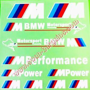 Wh Bmw M Performance Motorsport Car Body Personalization Transfer Decal Sticker
